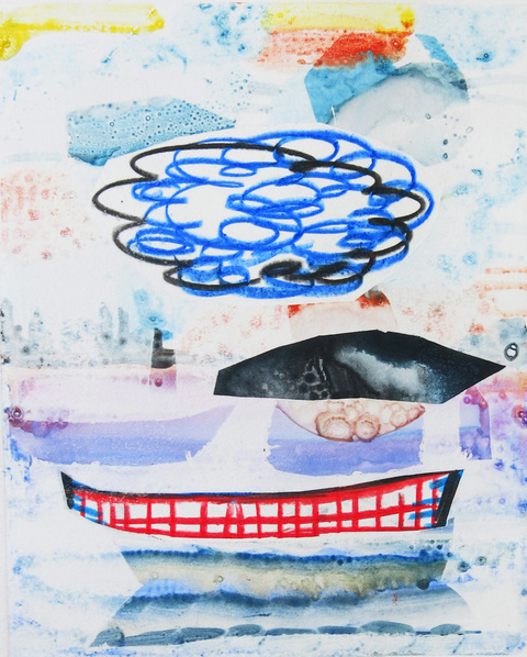 Monoprints 2018 Whale Watching