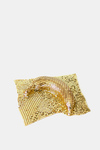 Bronze + Clay  Bronze and gold mesh handkerchief