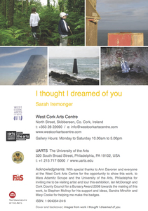 Sarah Iremonger I thought I dreamed of you 2009-10