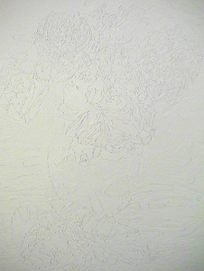 Sarah Iremonger Lumpy Art History 2001-03 Household enamel paint on canvas