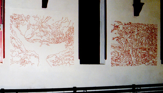 Sarah Iremonger Murals 2000-02 Acrylic paint on wall