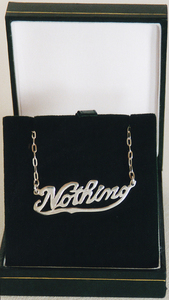 Sarah Iremonger Nothing & The Quandary of Painting 1998-2003 Silver identity necklace, jewellery box