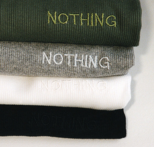 Sarah Iremonger Nothing 1998-2003 T-shirts, embroidered name tags