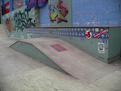 Sarah Iremonger Skatepark 2003 Photograph taken with a video camera