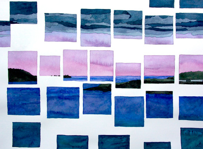 Sarah Iremonger Horizons 2014-18 Watercolour on paper