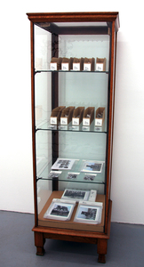 Sarah Iremonger The Hunting Box Party 2003-11 Display case, photographs printed as cards and badges, envelopes, plastic bags, card and badge labels