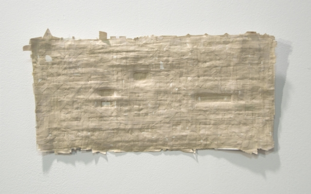 Sarah McDougald Kohn 2008 Newspaper & acrylic medium