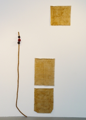Sarah McDougald Kohn 2006 & Older Rope, glue, sand, paper, chalk, dirt, paper & canvas