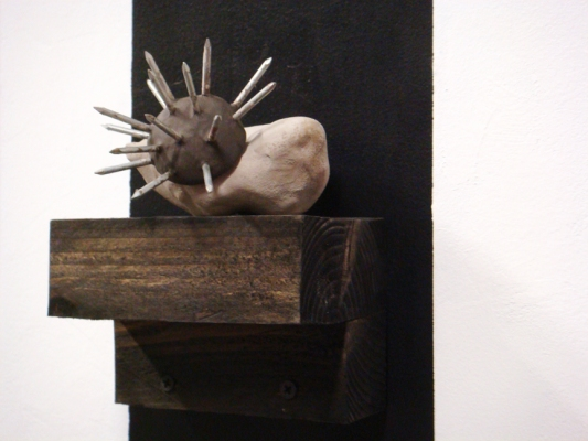 Sarah McDougald Kohn 2008 Paint, ink, wood, clay & nails