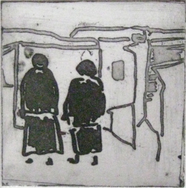 Etchings Untitled (figures 3)