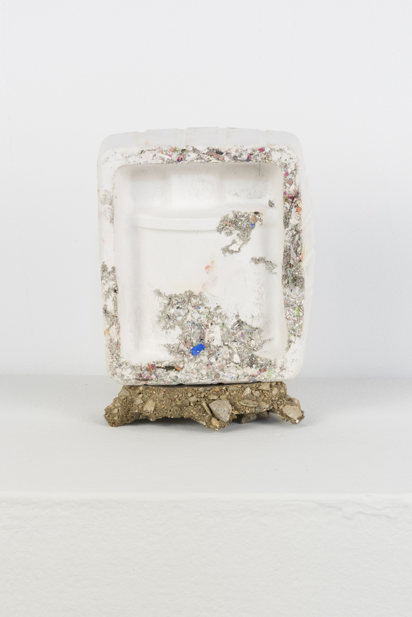 SARA HUBBS Small Works Cast Hydrocal, resin, fabric, decomposed granite, sweepings from studio floor