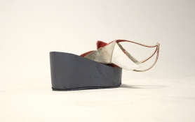 SARA HUBBS Scripts discarded shoe pieces and primer