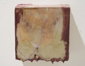 SARA HUBBS As Is  (MFA Exhibition) industrial wax, heat, spray paint on wood