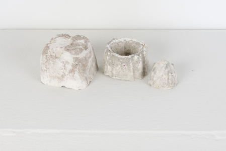 SARA HUBBS Small Works Cast Hydrocal and sweepings from studio floor