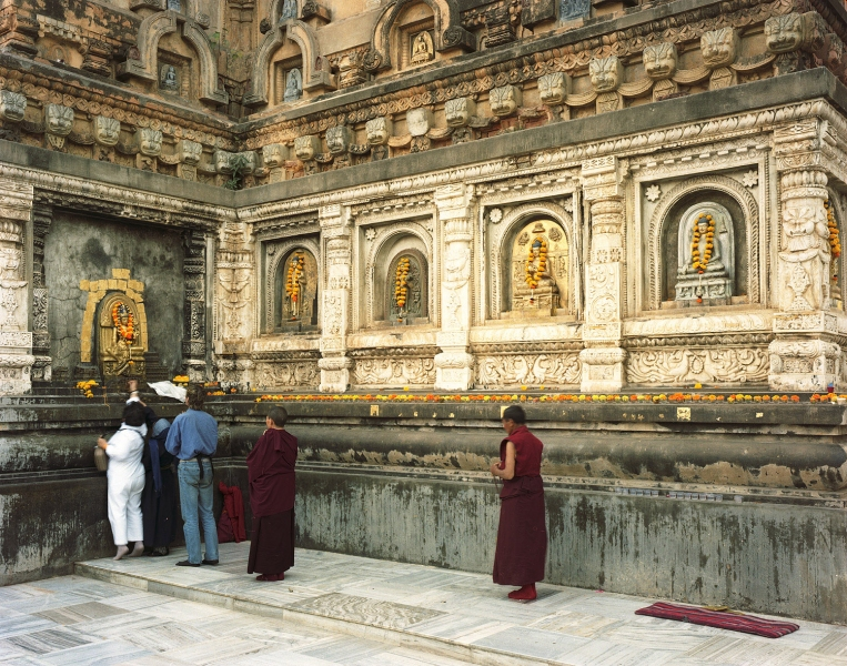 <b>The Searchers (Part I)</b>  Pilgrims at the Mahobodi Temple, where Buddha reached Enlightenment (Bodhgaya, India)