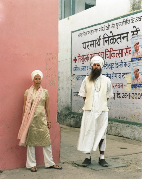 <b>The Searchers (Part II)</b> Mexican Sikh and her German husband (Rishikesh, India)