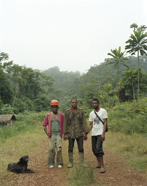 <b>Republic of Dust</b> Village chief from Nigeria with two friends at a gold mining village