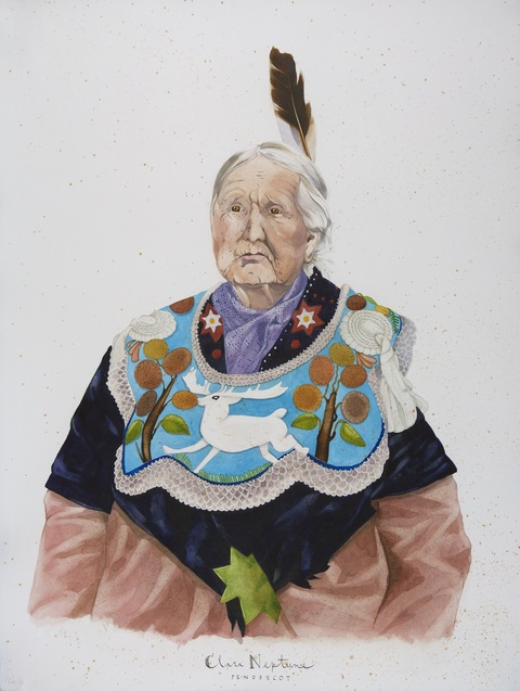 SCOTT KELLEY  WABANAKI  Watercolor and gouache on paper