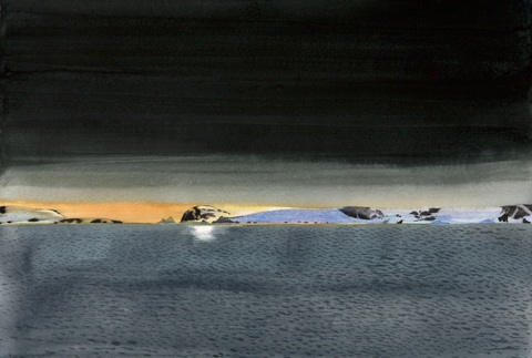 SCOTT KELLEY  ICEBERGS  Watercolor on paper