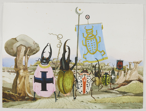 SCOTT KELLEY  AH-SHI-SLE-PAH, NEW MEXICO Watercolor, gouache and ink on paper
