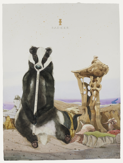 SCOTT KELLEY  AH-SHI-SLE-PAH, NEW MEXICO Watercolor, gouache on ink on paper