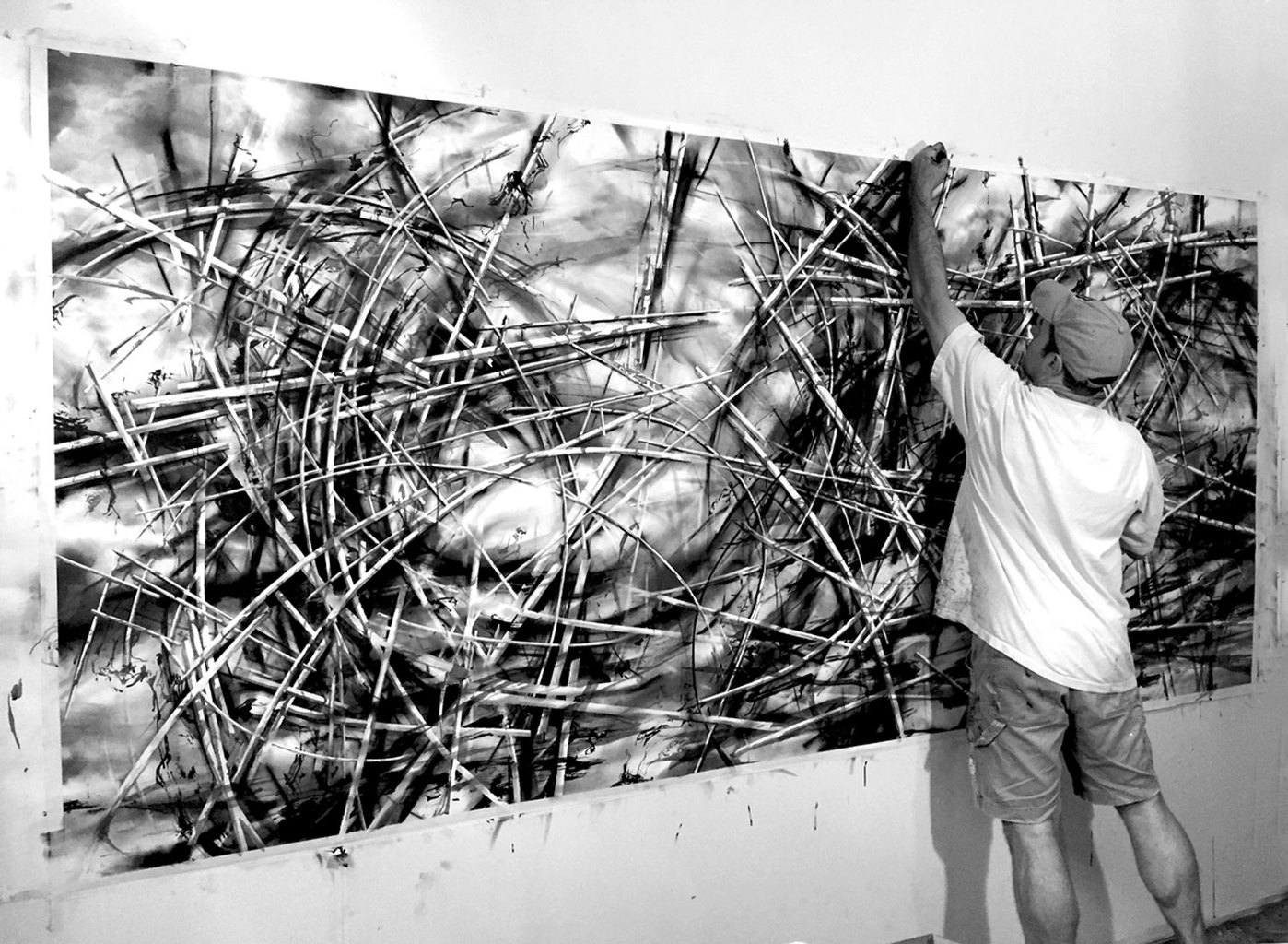 "recent drawings and openings working on ""upsurge"""