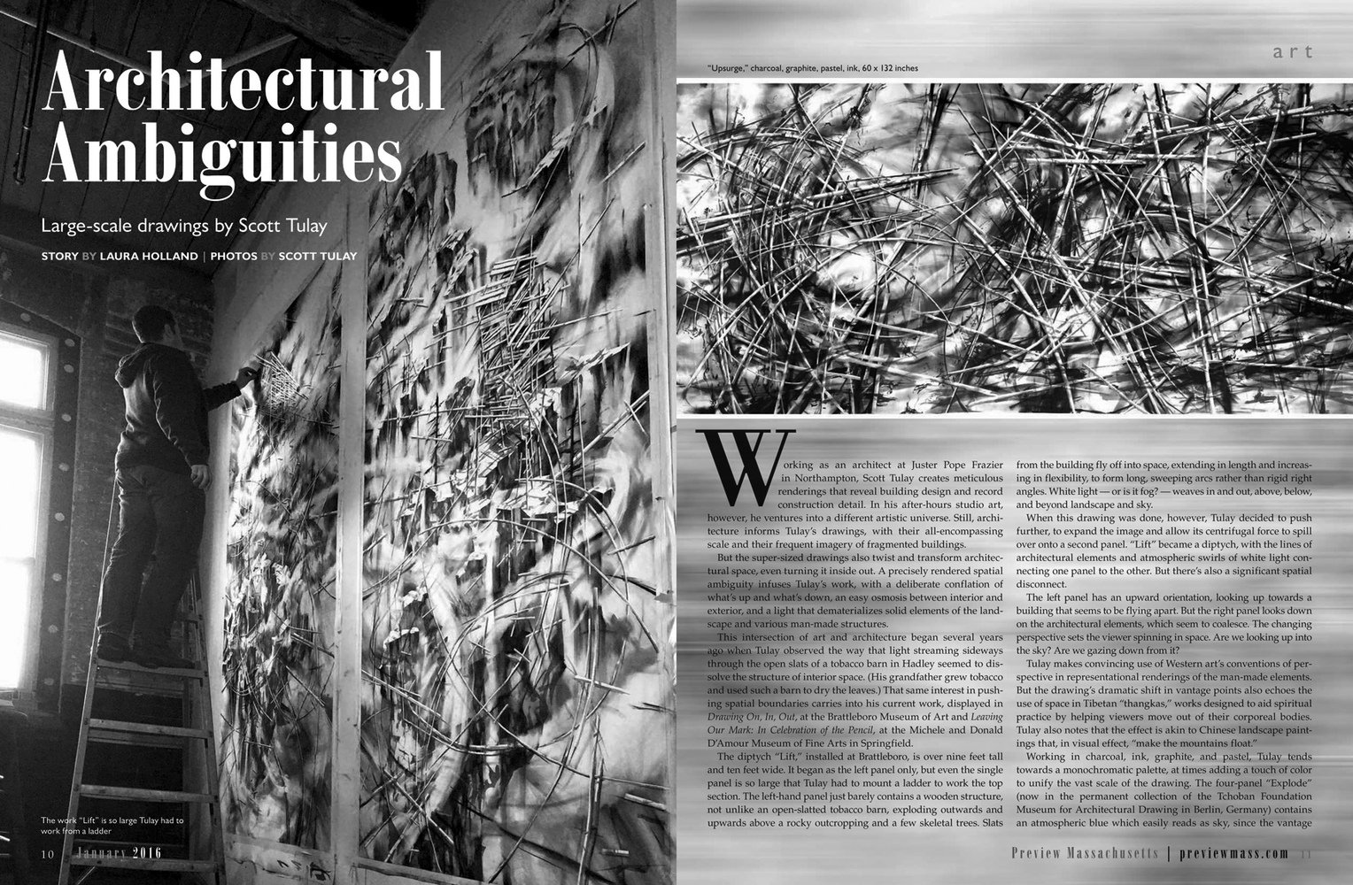 recent drawings and openings Preview Magazine feature