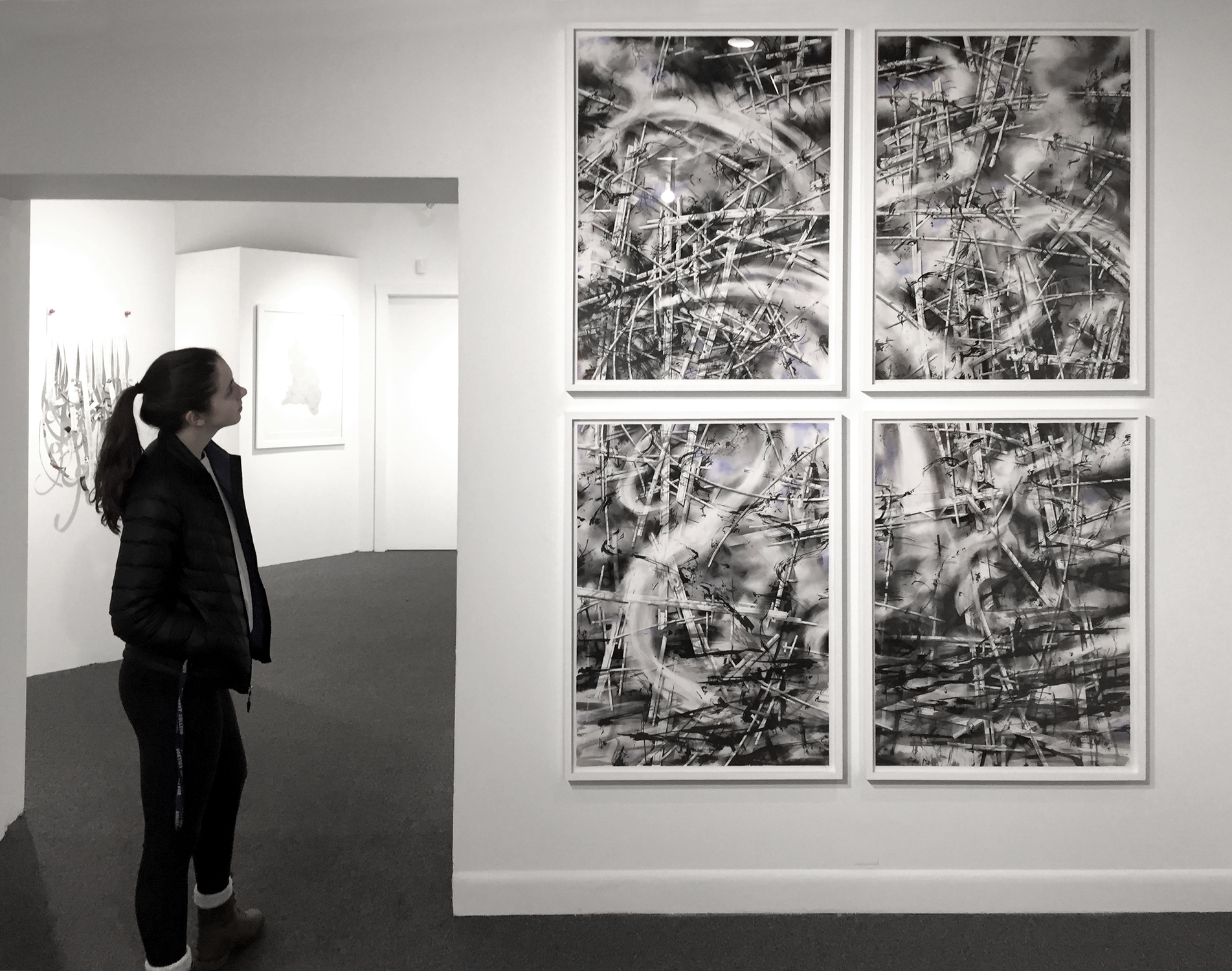"recent drawings and openings ""traces"" at the Brattleboro Museum and Art Center"