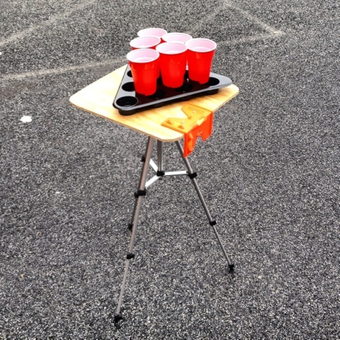 Tailgate Man Cave Mobile Beer Pong
