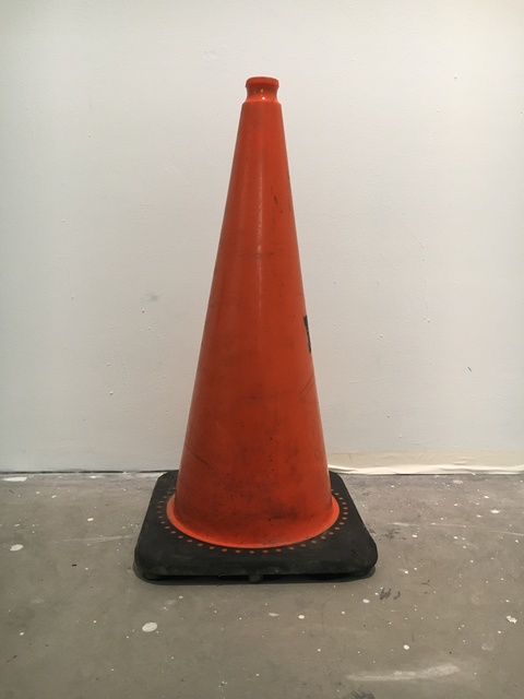 Sera Mac NOW Safety cone, cookie jar lid, serving spoon, felt, paint, tape, led lights