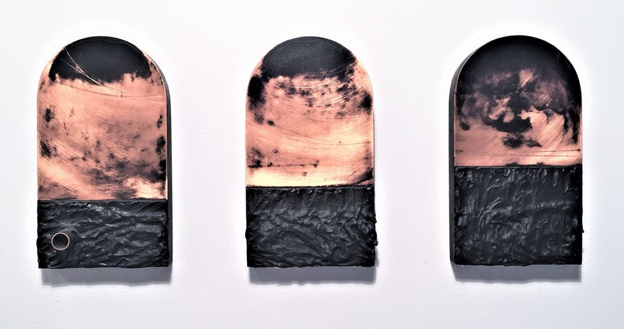 SERDAR ARAT Paintings on Copper Acrylic on copper and wood