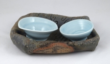 Shana Salaff Small Offerings (Bali 2012) Tray: handbuilt stoneware. Dishes: thrown and altered Porcelain