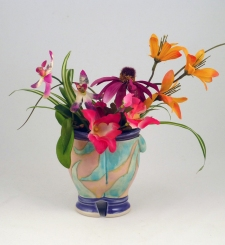 Shana Salaff Mockingjay Vases with Flowers (2012-13)