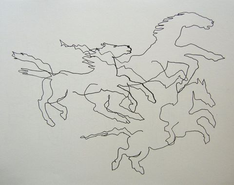 Shane Crabtree Horses ink