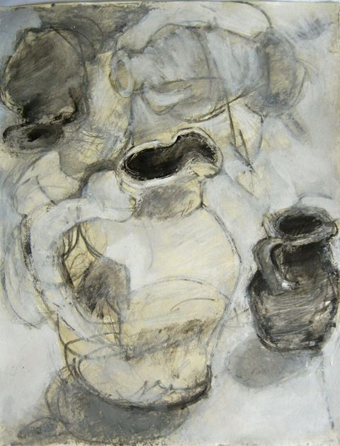 Shane Crabtree Still Life acrylic and graphite