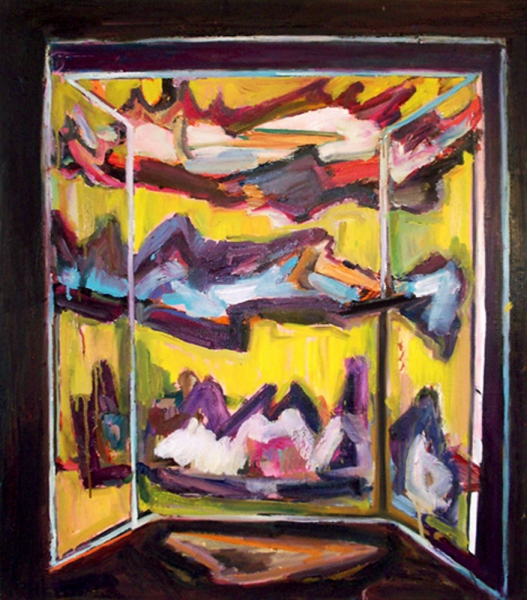 Shanna Waddell Medicine Cabinet Altarpiece oil on canvas