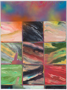 Sharona Eliassaf Current Paintings Oil and spray on canvsa