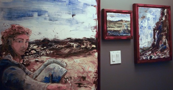 Sharon Hogg 2014 Landscape for a Good Woman Framed and Installed with Sketches