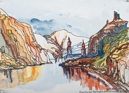 Sharon Hogg 2011 The Turner Project Watercolour and Ink on Paper
