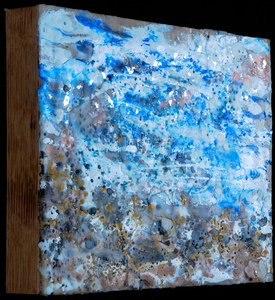 Sharon Hogg 2014 Fairly Odd Landscapes Encaustic and Rock Shell Inclusions on Panel