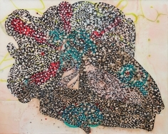 SHARON HORVATH Lovelife Pigment, Ink, Polymer on paper on canvas