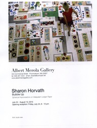 SHARON HORVATH  Bubble Up  Paper and paint fragments