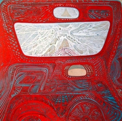 SHARON HORVATH Rearview Mirror Pigment, Polymer, Paper on Canvas
