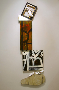 Shawn Turung                            multi media fine art Totems 79in. x 30in. x 3in.