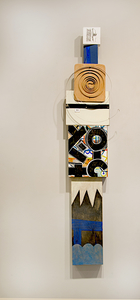 Shawn Turung                            multi media fine art Totems 49in. x 10in. x 3.25in.