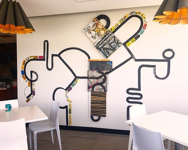Shawn Turung                            multi media fine art Murals installed at GRAVITATE!