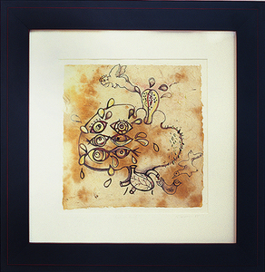 Shawn Turung                            multi media fine art Archive monotype print with ink