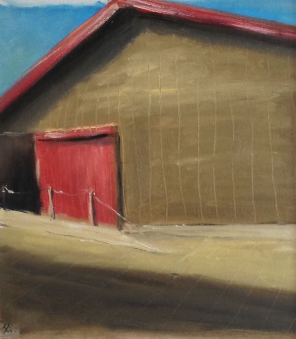 SHERYL MASSARO   fine art & photography OILS - Farms & Barns Oil on Canvas Paper