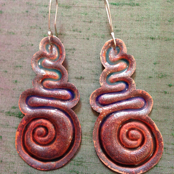 Shiri Daniella Enamel Earrings