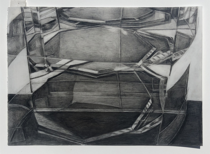 """Within Without"" 2009-present  pencil on Yupo paper"